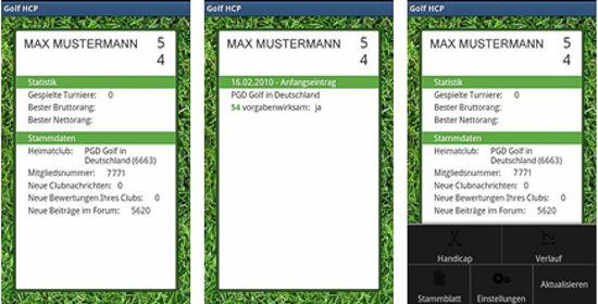 golf hcp android app. Black Bedroom Furniture Sets. Home Design Ideas
